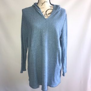 J. Jill Pullover Ribbed Top with Hood